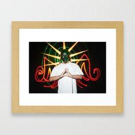 the light mask Framed Art Print