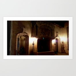 Fireplace in the Castle Art Print