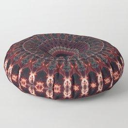 Ruby mandala Floor Pillow
