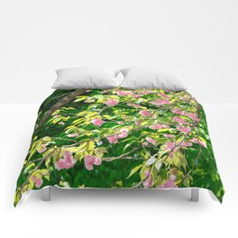 Sweeping Cherry Blossom Branches Comforters