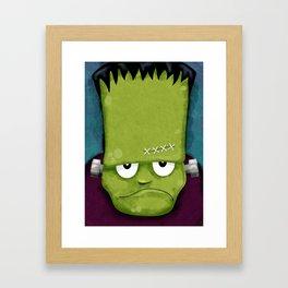 Grumpy Frankenstein Framed Art Print