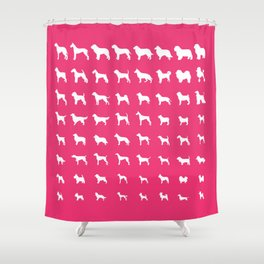 All Dogs (Pink) Shower Curtain
