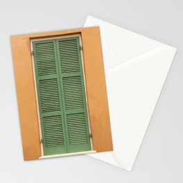 Green Shutters - Colorful Architecture in the New Orleans French Quarter Stationery Cards