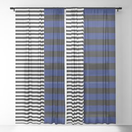 Different Sides (Blue) Sheer Curtain