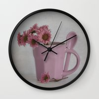 bonjour Wall Clocks featuring Bonjour by MadiS