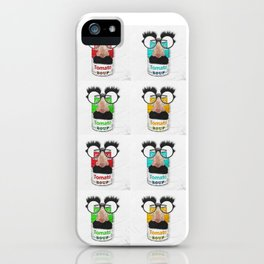 Groucho loves tomato soup iPhone Case