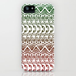 Holiday Henna Pattern iPhone Case