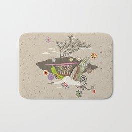Flora Crane Bath Mat