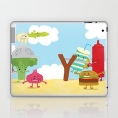 Vegetables vs. Fast food Laptop & iPad Skin