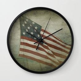 Fifteen Star Flag Wall Clock