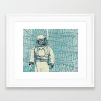 diver Framed Art Prints featuring Diver by Alli Coate