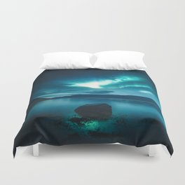 Aurora Borealis (Northern Polar Lights) Duvet Cover