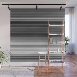 Black White Gray Thin Stripes Wall Mural