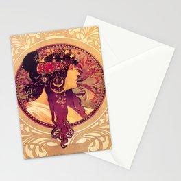 Alphonse Mucha, Art Nouveau Stationery Cards