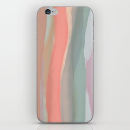 Peachy Watercolor iPhone Skin