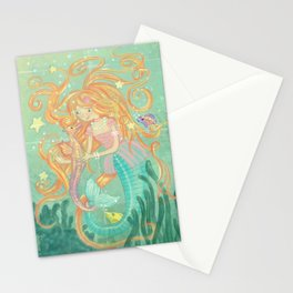 Mermaid Wishes & Seahorse Kisses Stationery Cards