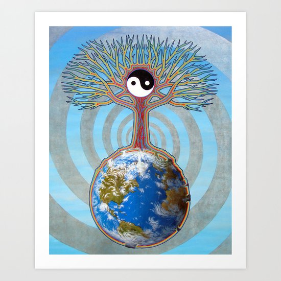 Balanced Earth Art Print