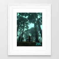 uncharted Framed Art Prints featuring Uncharted by ZML Zealous Modern Living