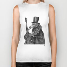 Vulture Double Bass by Pia Tham Biker Tank