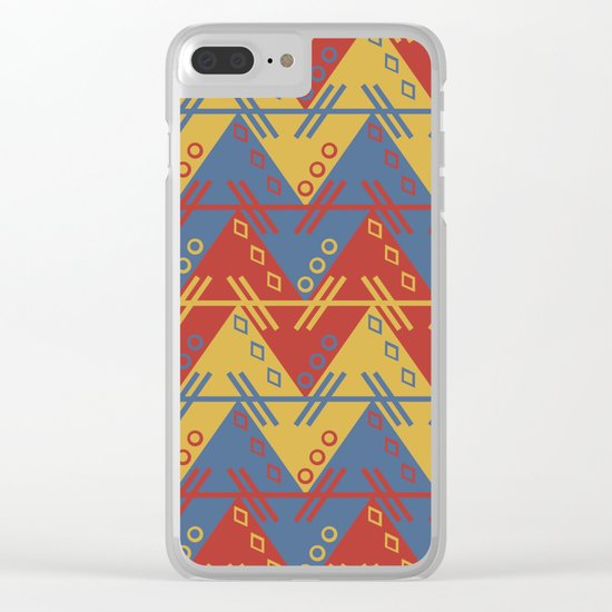 Tribal Zigzag Line Pattern Clear iPhone Case