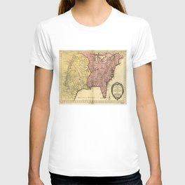 Map of North America circa 1763 (Carte de la Louisiane et des pays voisins) T-shirt