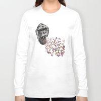 butterflies Long Sleeve T-shirts featuring Butterflies by Paula Belle Flores