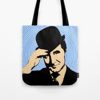 england Tote Bags featuring Goodmorning England by Ganech joe