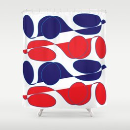 Digital Art_Summertime Bold Palette Shower Curtain