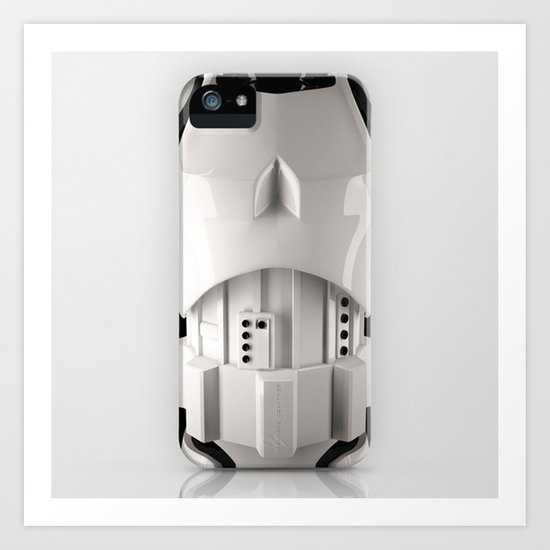 I-Trooper suit case. Art Print