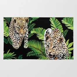 Leopard jungle pattern Rug