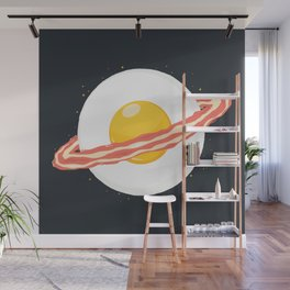 Outer space breakfast Wall Mural
