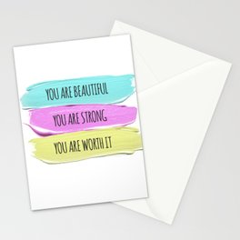 Self Worth Love Stationery Cards