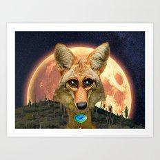 Arizona GQ Coyote Art Print