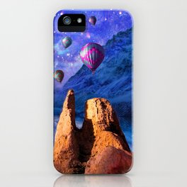 Mountain Tops Misty And Blue, A Light In Search Of Something New iPhone Case
