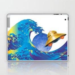 Hokusai Rainbow, UFO & the Moon  Laptop & iPad Skin