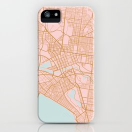 Melbourne map, Australia iPhone Case