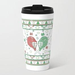Lacrosse Christmas Travel Mug