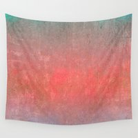 ombre Wall Tapestries featuring Ombre by Kimpressions