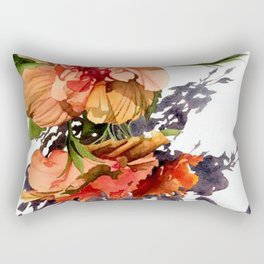 Melancholy Hibiscus Rectangular Pillow