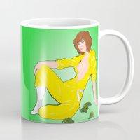neil gaiman Mugs featuring April O' Neil Unzipped by RAD Pencils