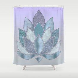 Elegant Glamorous Pastel Lotus Flower Shower Curtain