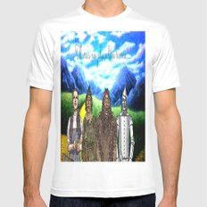 No Place Like Home Wizard Oz Art MEDIUM White Mens Fitted Tee