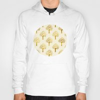 gold foil Hoodies featuring Cream Gold Foil 02 by Aloke Design