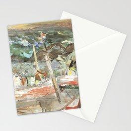 Kida Kinjiro - Fishing Boats (1960) Stationery Cards