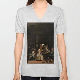 Las Meninas -  Diego Velázquez Unisex V-Neck