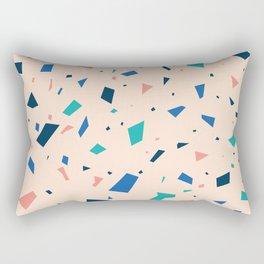 Pastel Terrazzo - Peach Granite Marble Speckle Pattern Rectangular Pillow