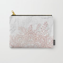 Queen Starring of Mandala-White Marble Carry-All Pouch