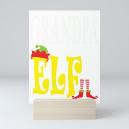 grandpa elf, christmas, christmas gift, xmas, xmas gift, elf gift, gramps Mini Art Print