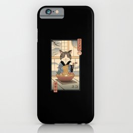 Neko Ramen Ukiyo-e iPhone Case