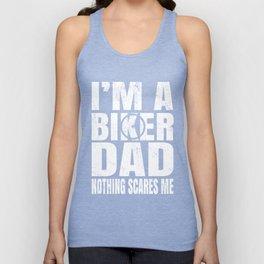 I'm A Biker Dad Nothing Scares Me - BMX Bike Rider Daddy print Unisex Tank Top